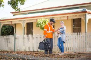 Husband leaves for work